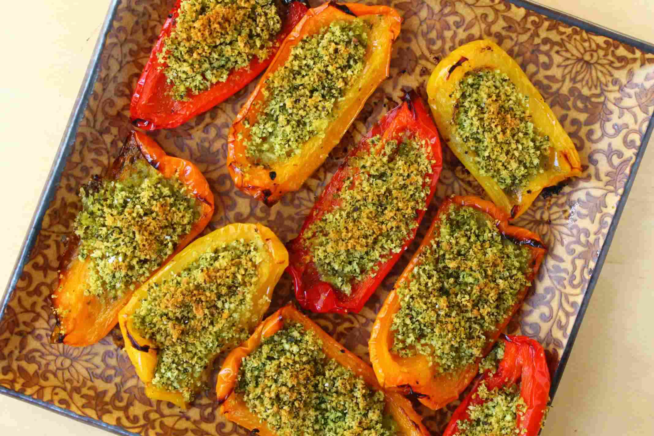 roasted peppers with herbed breadcrumbs :: story of a kitchen | story ...
